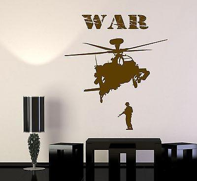 Wall Vinyl Soldier Marine Helicopter War Guaranteed Quality Decal Unique Gift (z3455)