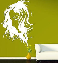 Beauty Salon Decor Wall Sticker Vinyl Decal Beautiful Girl Sexy Hairstyle (n196)