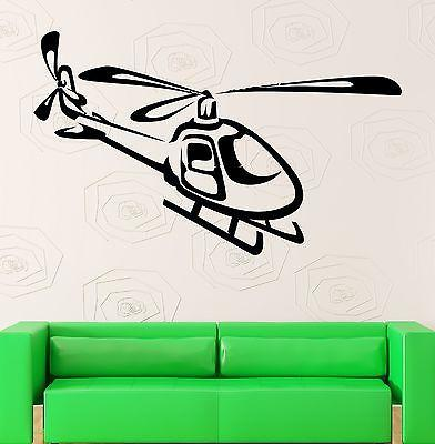 Wall Stickers Vinyl Decal Nursery Military Helicopter Airforce Kids Unique Gift (ig847)