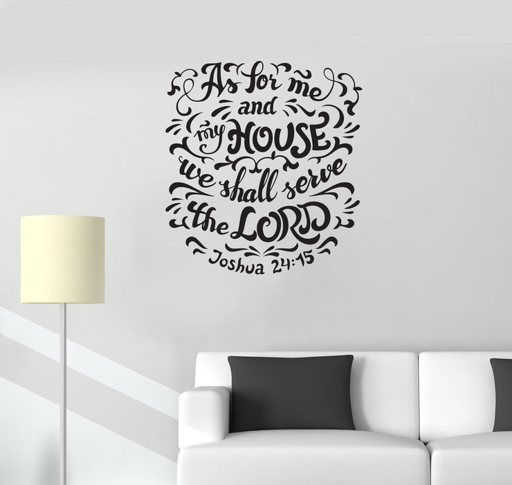 Vinyl Wall Decal Bible Verse Religion Prayer Room Interior Art Stickers Mural Ig5765