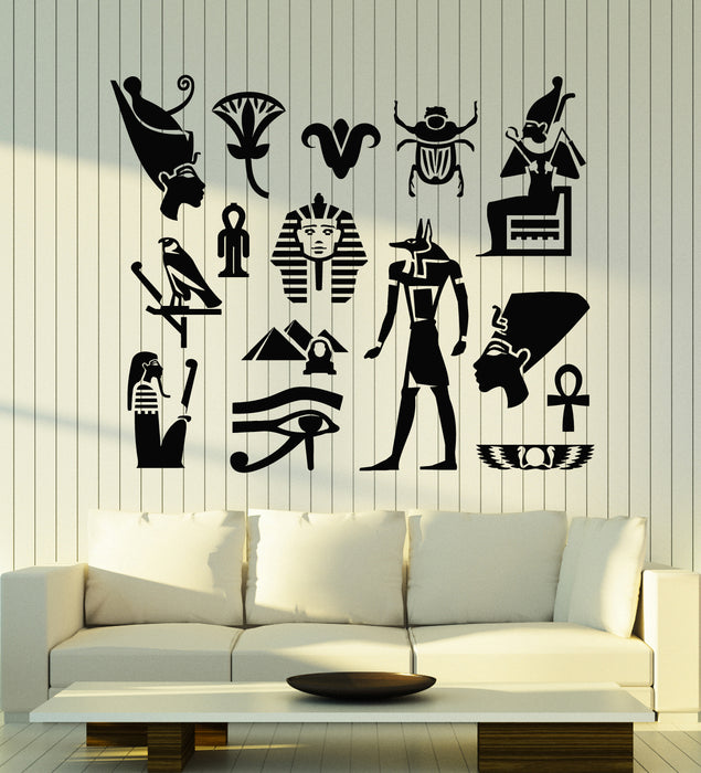 Vinyl Wall Decal Ancient Egypt Symbol Eye Pyramid Living Room Stickers Mural (g1189)