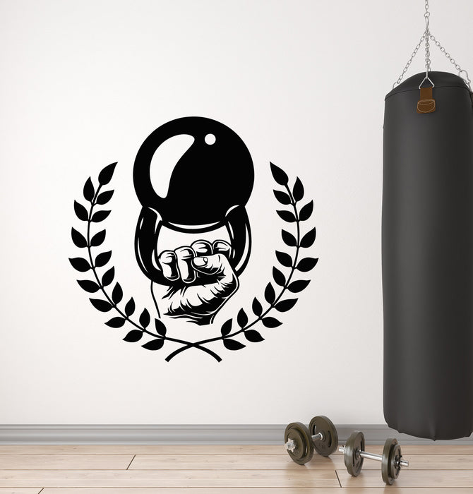 Vinyl Wall Decal Fitness Club Bodybuilding Weights Shells Training Gym Iron Sport Stickers Mural (g2673)