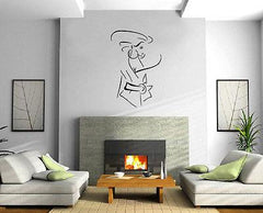 Beauty Sexy Woman Fashion Sketch Decor Wall Mural Vinyl Art Decal Sticker Unique Gift M483