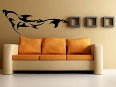 DOLPHIN IN THE WATER MARINE TRIBAL DECOR Wall MURAL Vinyl Art Sticker M214