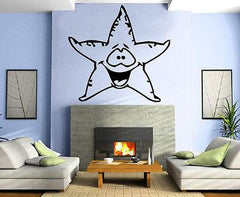 Funny Sea Star Marine Decor Kids Room Nursery Wall MURAL Vinyl Art Sticker M341
