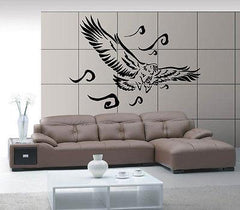 FLYING EAGLE HUNTING BIRD TRIBAL ART DECOR Wall MURAL Vinyl Art Sticker M292