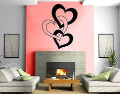 Entwined Hearts Love Romantic Decor Wall MURAL Vinyl Art Sticker M175
