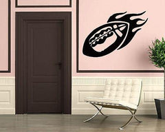 Fire Ball Oval Leather Sport Football Wall Art Decor Vinyl Sticker Unique Gift z311