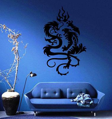 DRAGON VS TIGER TRIBAL DECOR Wall MURAL Vinyl Art Sticker Unique Gift M121