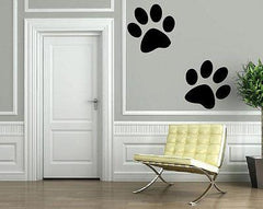 Cartoon Wolf Paw Prints Animal Decor Wall MURAL Vinyl Art Sticker Unique Gift M355