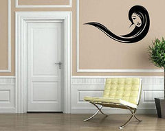 Beautiful Sexy Girl Long Wavy Hair Wind Wall Decor Mural Vinyl Decal Art M550