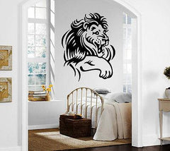 Cartoon Funny Lion Smile Kid Room Animal Decor Wall Mural Vinyl Art Sticker M368
