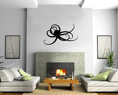 Octopus Silhouette Ocean Marine Sea Decor Wall Mural Vinyl Decal Sticker Unique Gift M491
