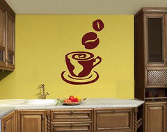 Coffee Tea Shop Restaurant  Business  Mural  Wall Art Decor Vinyl Sticker z688