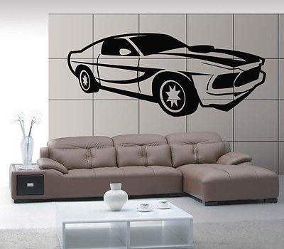 Sport Race Speed Car Motor Vehicle Mural Wall Art Decor Vinyl Sticker Unique Gift z552