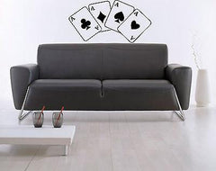 Four Aces Poker Stack Of Cards Mural  Wall Art Decor Vinyl Sticker Unique Gift z556