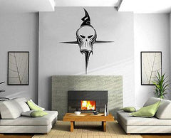 GHOST SKULL TRIBAL DECOR Wall MURAL Vinyl Art Sticker Unique Gift M251