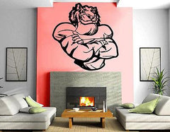TIGER FOOTBALL PLAYER SPORTS DECOR Wall MURAL Vinyl Art Sticker Unique Gift M253