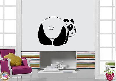 Wall Sticker Vinyl Decal Funny Panda Cute Animal Decor For Children's Room (z1151)