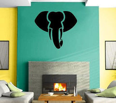Elephant  Aggressive Tribal Simbol  Decor Wall MURAL Vinyl Art Sticker z780