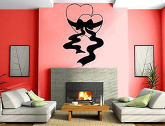 Hearts Love Gift Wrapped Valentine's Day Decor Wall MURAL Vinyl Art Sticker Unique Gift M140