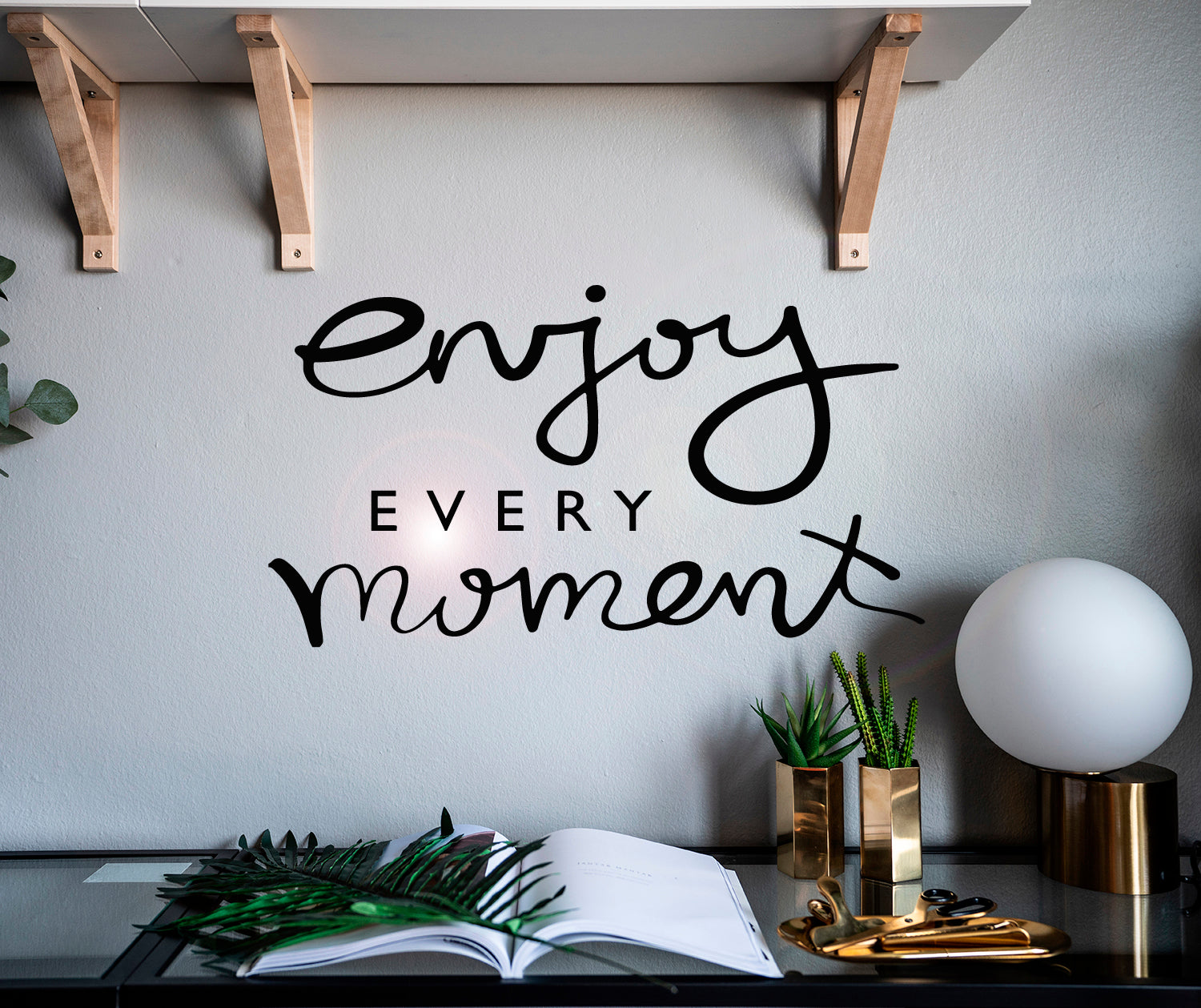 Vinyl Wall Decal Inspiring Quote Enjoy Every Moment Stickers Mural 22 Wallstickers4you