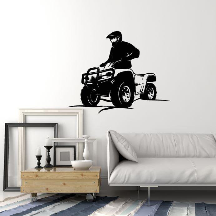 Wall Decal ATV Quad Bike Extreme Sport Vinyl Stickers Art Mural Unique Gift (ig2539)