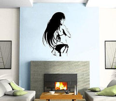 Hentai Hi-Manga Art Naked Sexy Oriental Girl Wall Art Decor Vinyl Sticker Unique Gift z231