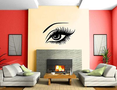 Sexy Beautiful Female Eye Big Eye Lashes Decor Wall Mural Vinyl Art Sticker Unique Gift ( : wall mural decal - www.pureclipart.com