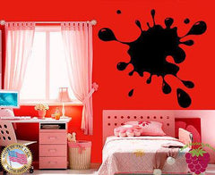 Vinyl Sticker Wall Art Decor Ink Blot Splash Smudge Funny  Unique Gift EM308