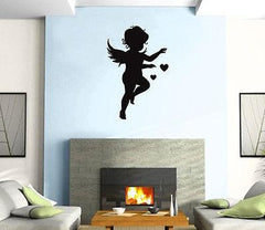 Cupid Love Angel Heart  Positive Love  Wall Art Decor Vinyl Sticker z499