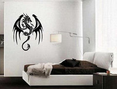 Fire Flying Dragon Medieval Tales Decor Wall Mural Vinyl Art Decal Sticker M479