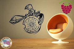 Wall Stickers Vinyl Decal Spartan Warrior Shield Spear Helmet Silhouette ig820
