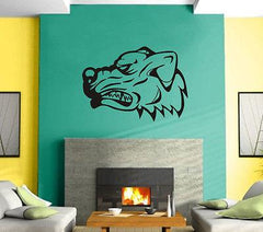 Dog Pitbull Bulldog Face Predator   Mural  Wall Art Decor Vinyl Sticker Unique Gift z560