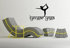 Wall Vinyl Iyengar Yoga Symbol Spiritual Sanskrit Decor Art Sticker Unique Gift M576
