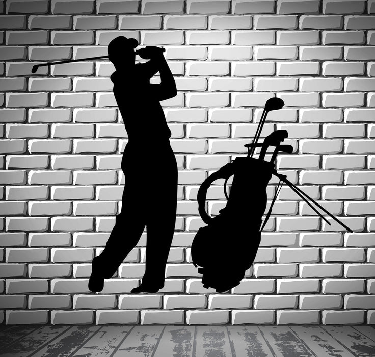 Golf Vinyl Decal Player English Sports Fan Wall Stickers Unique Gift (ig2324)