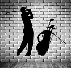 Golf Vinyl Decal Player English Sports Fan Wall Stickers (ig2324)