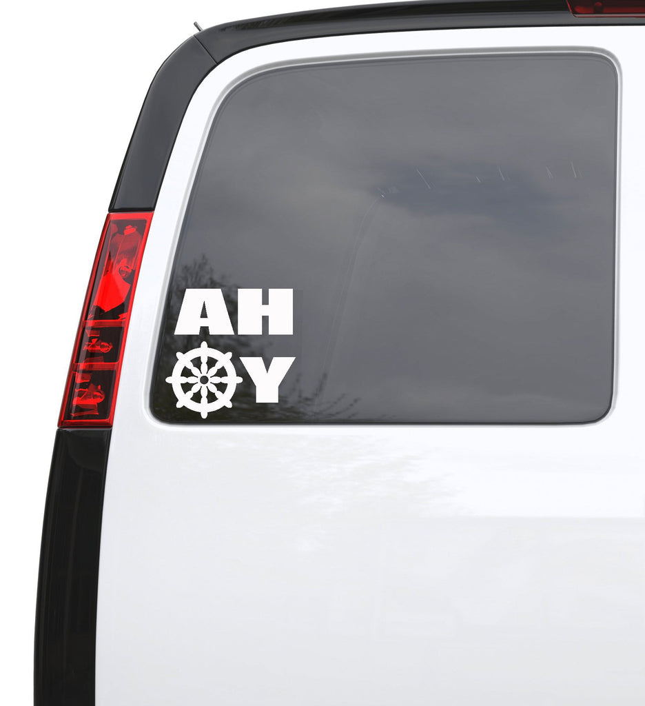 "Auto Car Sticker Decal Ahoy Sailor Nautical Marine Truck Laptop Window 5.1"" by 5"" Unique Gift ig4356c"