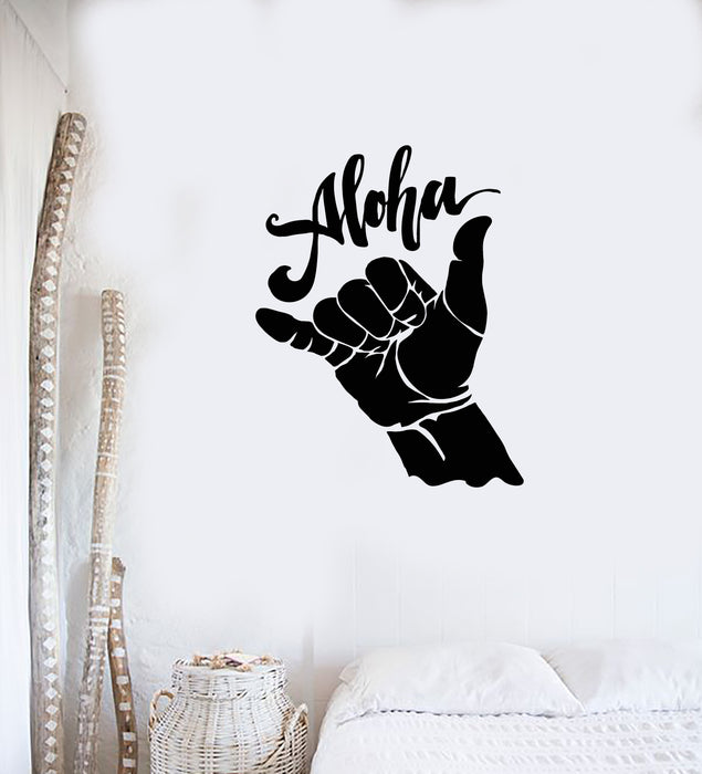Vinyl Wall Decal Aloha Shaka Surfing Surfer Beach Style Teenage Decor Stickers Mural (ig5655)