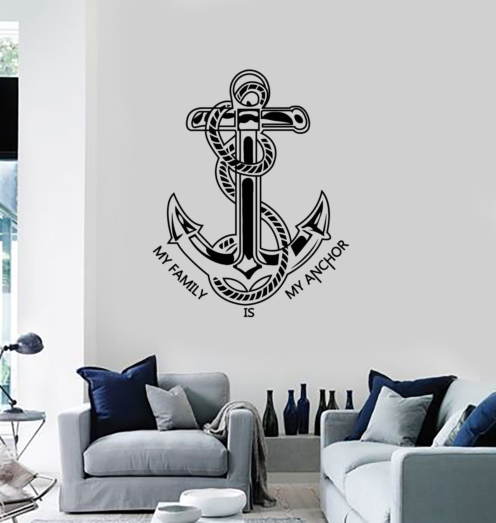 Anchor Sea Boating Vinyl Wall art Decal Sticker