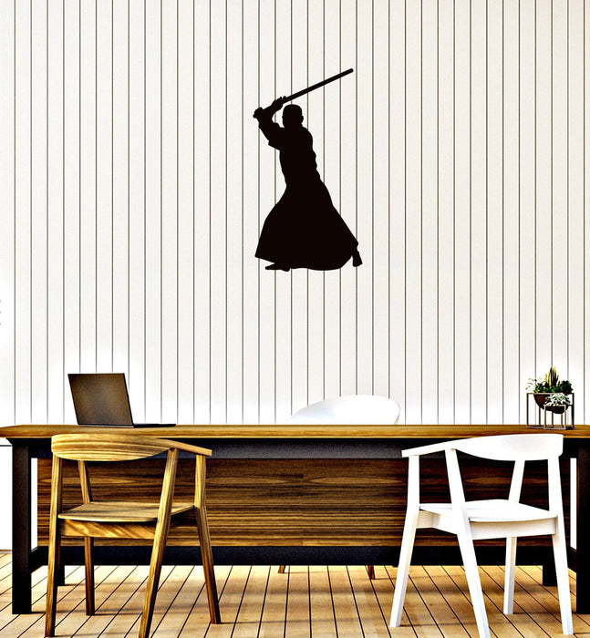 Vinyl Wall Decal Samurai Asia Man Martial Arts Home Boys Room Stickers Mural (g006)