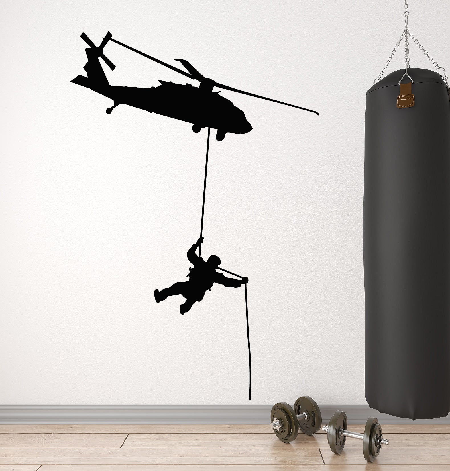 Vinyl Wall Decal Chopper Military Aviation Flight Soldier MIlitary Stickers  Mural (g1208)
