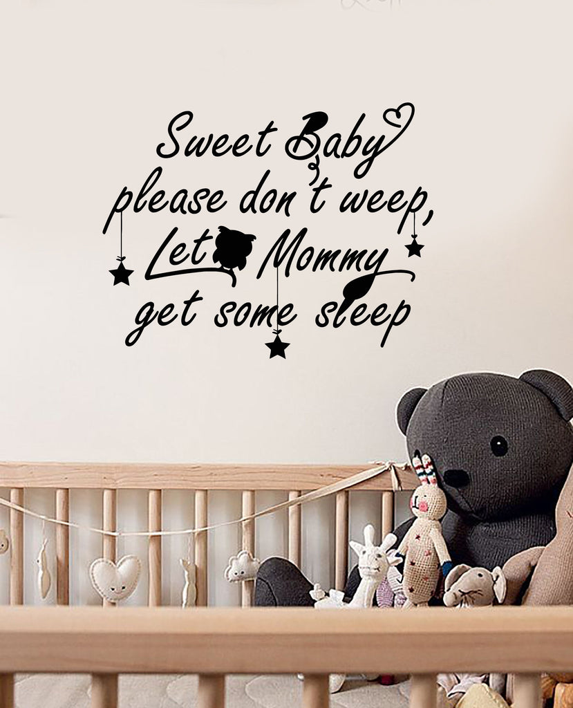 Elegant Vinyl Wall Decal Baby Room Quote Nursery Decoration Idea Decor Stickers  Mural (ig5575)