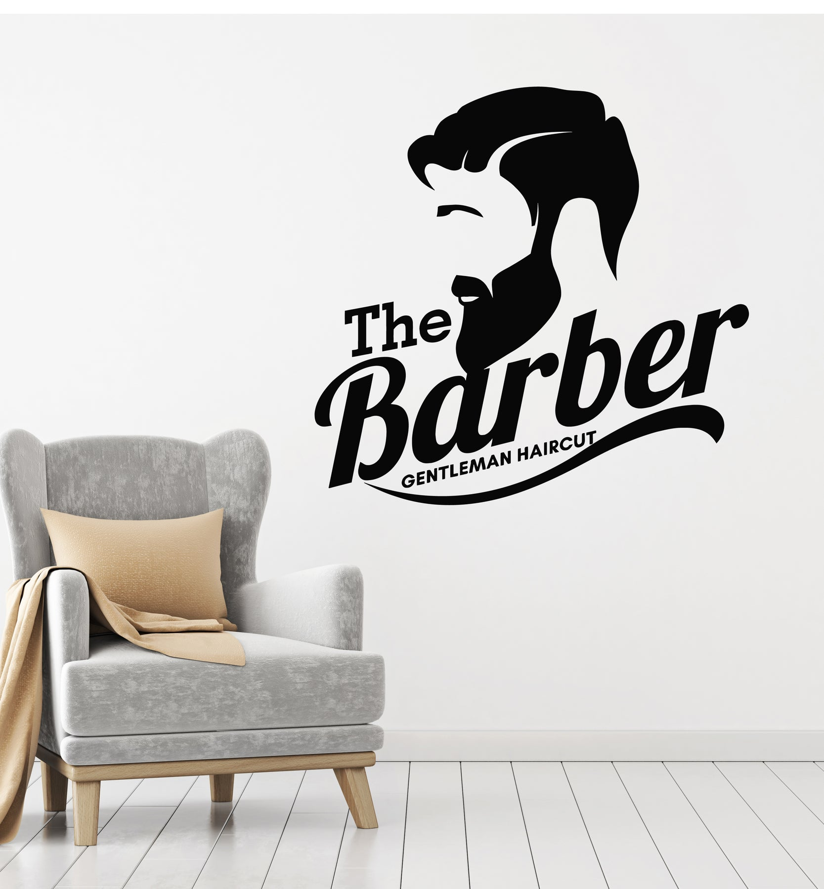 Vinyl Wall Decal Barber Shop Barbershop Gentlemen Haircut Salon Sticke Wallstickers4you