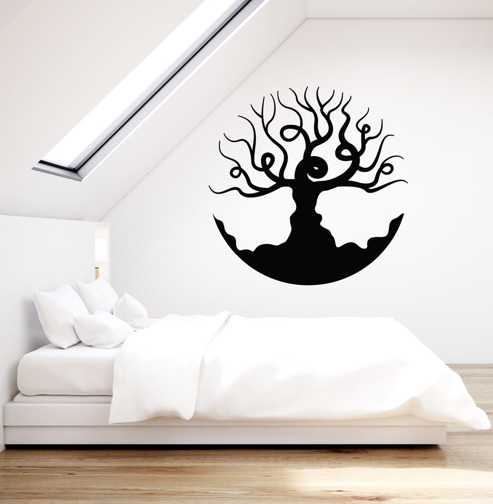 Vinyl Wall Decal Beautiful Bare Tree Branches Living Room Bedroom ...