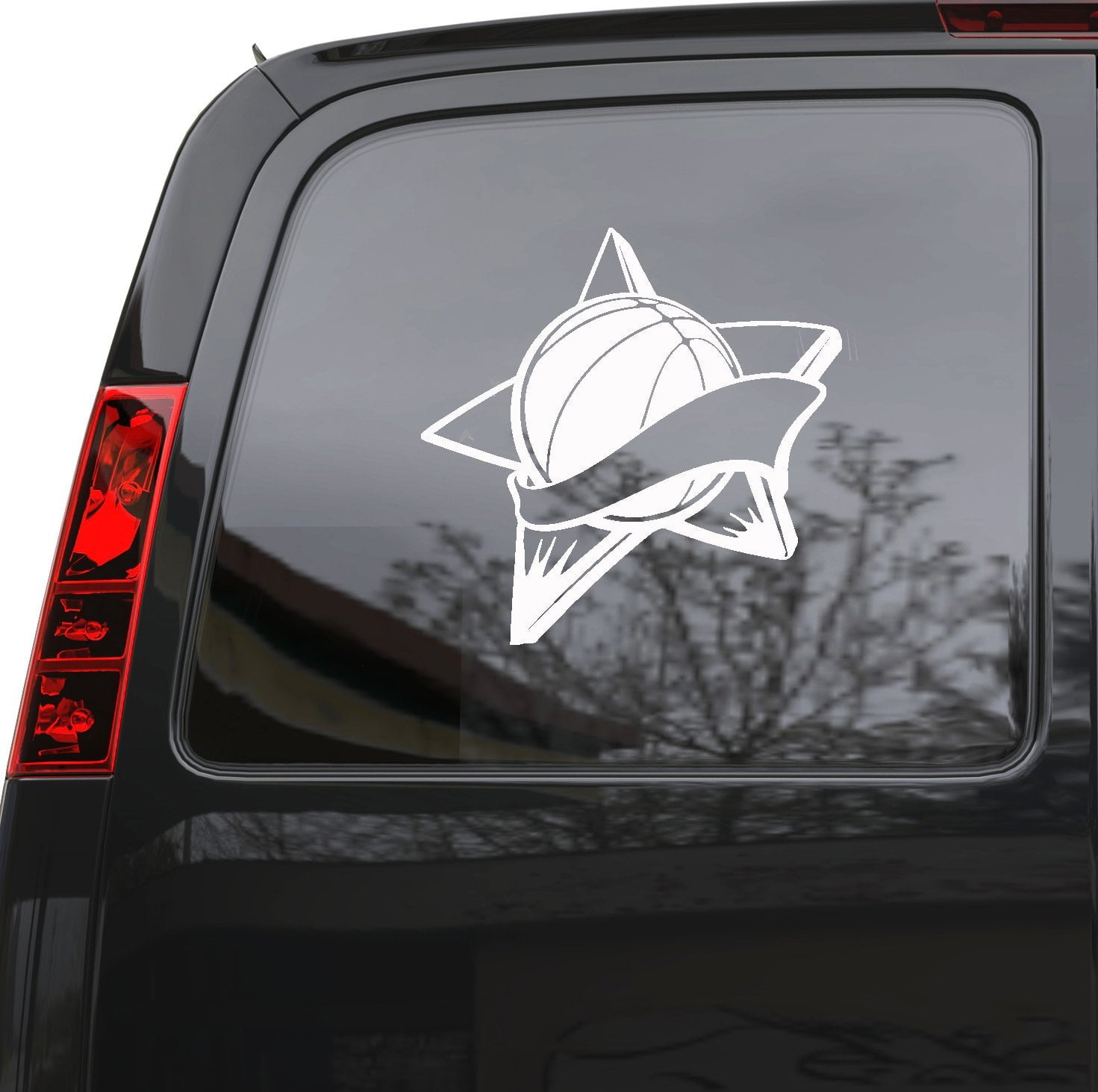 "Auto Car Sticker Decal Basketball Ball Sports Fan Truck Laptop Window 5"" by 5"" Unique Gift z824c"