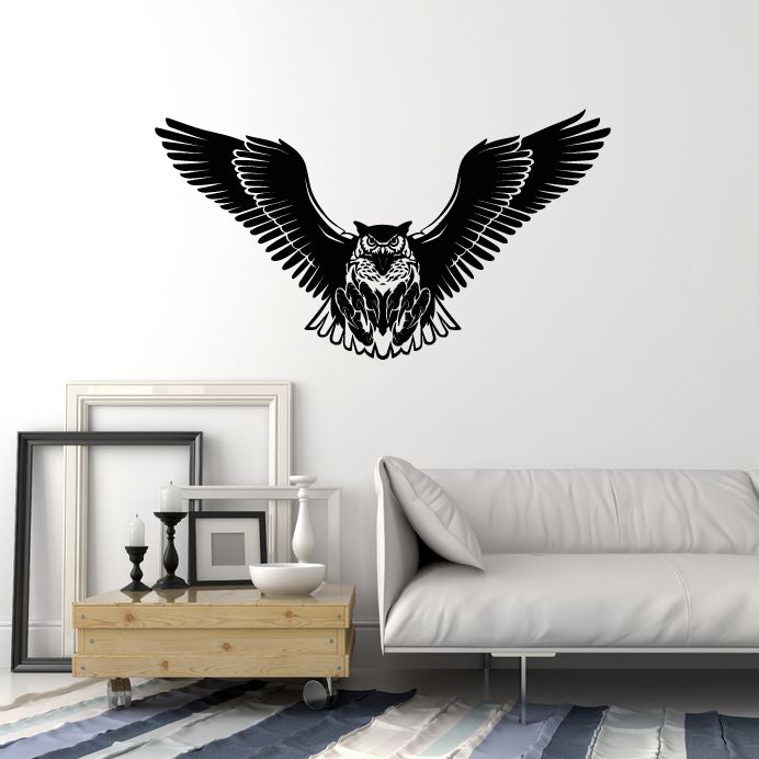 Vinyl Wall Decal Owl Predatory Bird Tribal Decor Room Home Stickers Mural (g929)