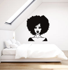 Beautiful Black Lady Vinyl Wall Decal Woman Beauty Salon Art Decor Stickers Mural (ig5293)