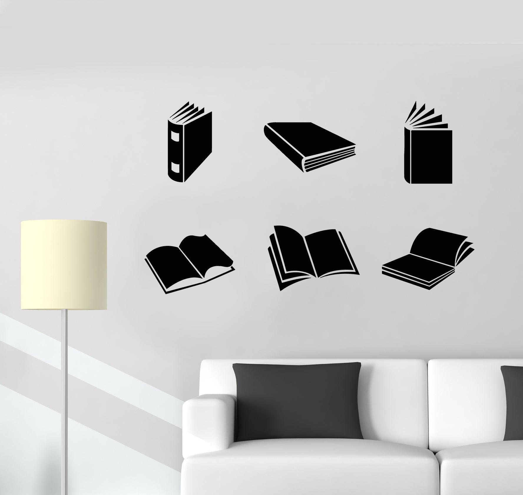 Details about Vinyl Wall Decal Reading Room Open Book Shop Store ...