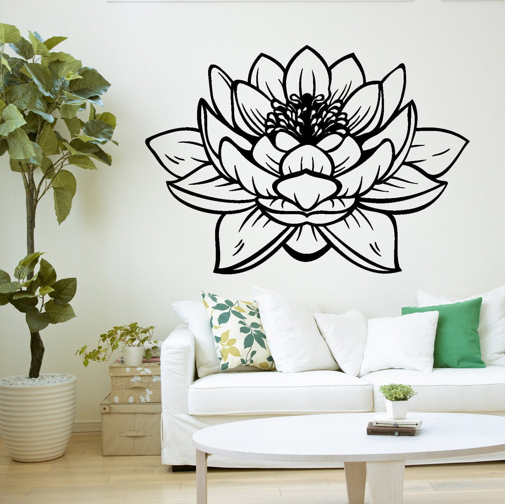 Lotus Flower Buddha Yoga Studio Meditation Decor Vinyl Decal Unique Gi Wallstickers4you